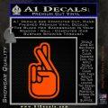 Crossed Fingers D2 Decal Sticker Orange Emblem 120x120