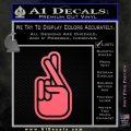 Crossed Fingers D2 Decal Sticker Pink Emblem 120x120