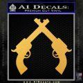 Crossed Pistols Decal Sticker Gold Vinyl 120x120