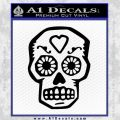Day Of The Dead Skull Decal Sticker Black Vinyl 120x120