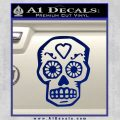 Day Of The Dead Skull Decal Sticker Blue Vinyl 120x120