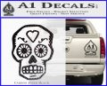 Day Of The Dead Skull Decal Sticker Carbon FIber Black Vinyl 120x97