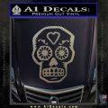 Day Of The Dead Skull Decal Sticker Carbon FIber Chrome Vinyl 120x120