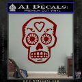 Day Of The Dead Skull Decal Sticker DRD Vinyl 120x120