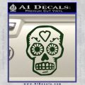Day Of The Dead Skull Decal Sticker Dark Green Vinyl 120x120