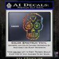 Day Of The Dead Skull Decal Sticker Glitter Sparkle 120x120