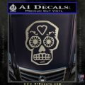 Day Of The Dead Skull Decal Sticker Metallic Silver Emblem 120x120