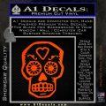 Day Of The Dead Skull Decal Sticker Orange Emblem 120x120