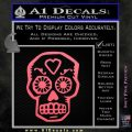 Day Of The Dead Skull Decal Sticker Pink Emblem 120x120