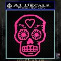 Day Of The Dead Skull Decal Sticker Pink Hot Vinyl 120x120