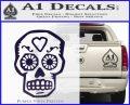 Day Of The Dead Skull Decal Sticker PurpleEmblem Logo 120x97