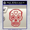 Day Of The Dead Skull Decal Sticker Red 120x120