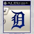 Detroit Tigers D Decal Sticker Blue Vinyl 120x120