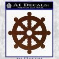 Dharma Wheel Decal Sticker Traditional BROWN Vinyl 120x120