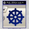 Dharma Wheel Decal Sticker Traditional Blue Vinyl 120x120