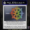 Dharma Wheel Decal Sticker Traditional Glitter Sparkle 120x120