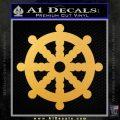 Dharma Wheel Decal Sticker Traditional Gold Vinyl 120x120