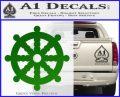 Dharma Wheel Decal Sticker Traditional Green Vinyl Logo 120x97