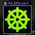 Dharma Wheel Decal Sticker Traditional Lime Green Vinyl 120x120