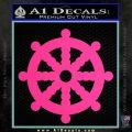 Dharma Wheel Decal Sticker Traditional Pink Hot Vinyl 120x120