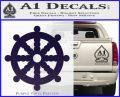 Dharma Wheel Decal Sticker Traditional PurpleEmblem Logo 120x97