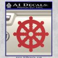 Dharma Wheel Decal Sticker Traditional Red 120x120
