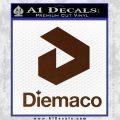 Diemaco Firearms Decal Sticker BROWN Vinyl 120x120