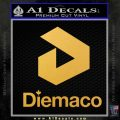 Diemaco Firearms Decal Sticker Gold Vinyl 120x120