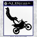 Dirt Bike One Hand D3 Decal Sticker Black Vinyl 120x120