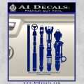 Doctor Who Sonic Screwdriver Collection Decal Sticker Blue Vinyl 120x120