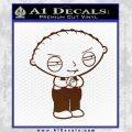Family Guy Stewie Decal Sticker D2 BROWN Vinyl 120x120