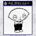 Family Guy Stewie Decal Sticker D2 Black Vinyl 120x120