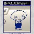 Family Guy Stewie Decal Sticker D2 Blue Vinyl 120x120
