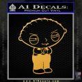 Family Guy Stewie Decal Sticker D2 Gold Vinyl 120x120