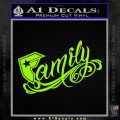 Famous F Stars And Straps Decal Sticker Lime Green Vinyl 120x120