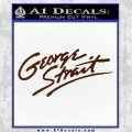 George Strait Decal Sticker BROWN Vinyl 120x120