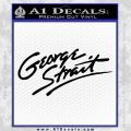 George Strait Decal Sticker Black Vinyl 120x120