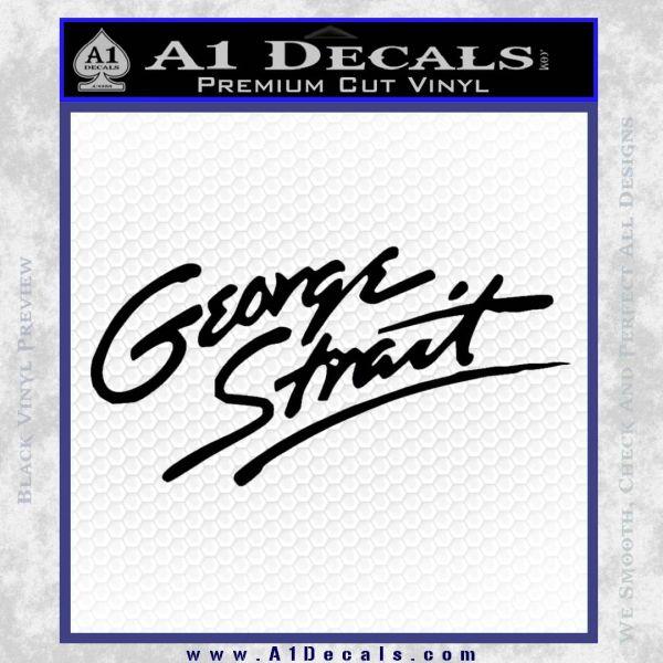 George Strait Decal Sticker Black Vinyl