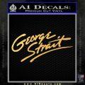 George Strait Decal Sticker Gold Vinyl 120x120