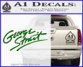 George Strait Decal Sticker Green Vinyl Logo 120x97