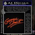 George Strait Decal Sticker Orange Emblem 120x120