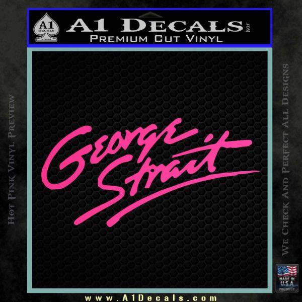 George Strait Decal Sticker A Decals - Badass decals for trucks