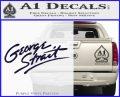 George Strait Decal Sticker PurpleEmblem Logo 120x97
