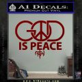 God is Peace Decal Sticker NOTW DRD Vinyl 120x120