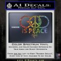 God is Peace Decal Sticker NOTW Glitter Sparkle 120x120