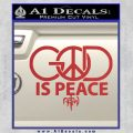God is Peace Decal Sticker NOTW Red 120x120