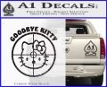 Goodbye Hello Kitty Scope Decal Sticker Carbon FIber Black Vinyl 120x97