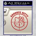 Goodbye Hello Kitty Scope Decal Sticker Red 120x120