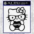 Hello Kitty Loves Nerds Decal Sticker Black Vinyl 120x120