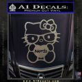 Hello Kitty Loves Nerds Decal Sticker Carbon FIber Chrome Vinyl 120x120